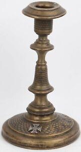 ww2 GERMAN Candlestick WWII Sterling SILVER Iron CROSS 1939 Oak Leaves 160x94 mm