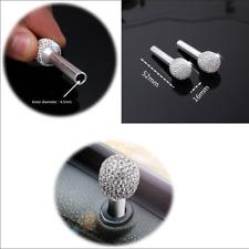 Bling Rhinestone-encrusted Aluminum Alloy Door handle Interior Lock Knob Pins X2