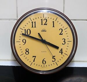 Vintage Smiths Timecal Wall Clock - 1970s working.