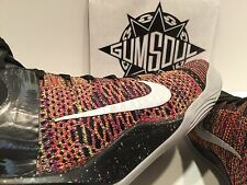 NIKE KOBE IX 9 ELITE MASTERPIECE MULTI COLOR FLYKNIT MAMBA 630847 001 sz 11