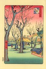 """Véritable Estampe Japonaise De Hiroshige """"Jardin des pruniers à Kamata"""""""