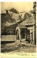 CPA 05 Hautes-Alpes La Grave l' Eglise des Terrasses et la Meije