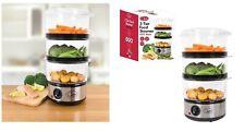Nouveau Quest 3 Couche en Acier Inoxydable Compact Food Steamer avec bol de riz,...