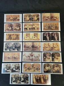 20 Stereoscope Stereoview Cards Dollmasters Victorian Re-Creation Sets A-D Dolls