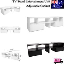 TV Stand Entertainment Unit Adjustable Cabinet Corner Drawer Storage Matt Finish