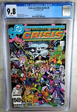 Crisis on Infinite Earths #9 D.C. DC 1985 CGC 9.8 NM/MT White Pages Comic N0094