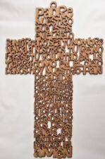 Oracion Padre Nuestro en Cruz/Padre Nuestro Pray Cross Siluet Wall Hanging 30cm