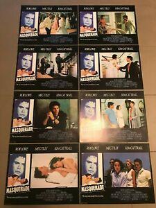 Original Lobby Card Set (8) 11x14: Masquerade (1988) Rob Lowe, Kim Kattrail