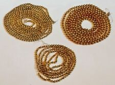 "250""+ Lot of 3 Vtg Old Gold Mercury Glass Bead Christmas Tree Garlands Germany"
