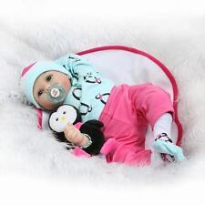 "22"" Reborn Baby Dolls Realistic Newborn Lifelike Vinyl Boy Girl Handmade Penguin"