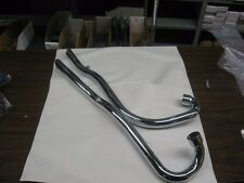 TRIUMPH HIGH PIPE EXHAUST 650-C MODEL. 2 PIPES, LEFT SIDE CHOPPER BOBBER