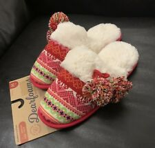 Slippers Dearfoams. Women's Memory Foam Indoor/Outdoor Machine Washable SZ M 7/8