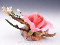 Boehm England Porcelain Figurine #25066 ROYAL BLESSING PINK ROSE FLOWER Mint