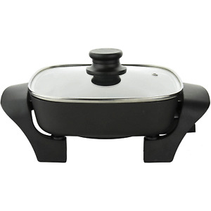 Brentwood Appliances SK-46 8 Inch Nonstick Electric Skillet with Glass Lid