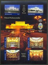 2011 Parliament Palace,Architecture,2nd Building in the World,Romania,Bl.499,MNH