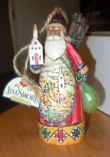 JIM SHORE 2006 SANTA WITH SCENE (HOLDING CHURCH) ORNAMENT NEW WITH TAG