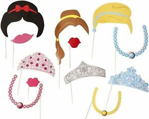 PRINCESS PARTY PHOTO ACCESSORIES Great for Girls Birthday Parties  - 12 Pieces