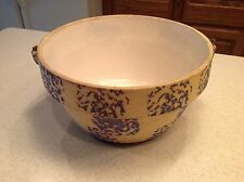 Vintage Early American The Pure Food Cooking Ware Pottery Bowl Large Nice Cond.
