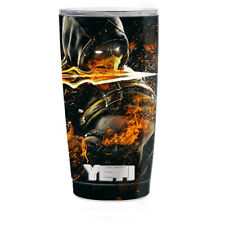 Skin Decal for Yeti 20 oz Rambler Tumbler Cup / Scorpion with Flaming Sword