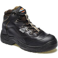 MENS DICKIES BERWICK SAFETY WORK BOOTS SIZE UK 7 EU 41 STEEL TOE BLACK FA23400