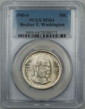 1946-S Booker T. Washington Commemorative Silver Half Dollar Coin PCGS MS-64 DGH