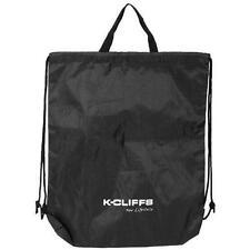 Lightweight Drawstring Fitness Gym Tote Bag School Sports Backpack Nylon Black