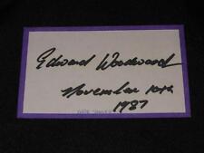 The Wicker Man Edeard Woodward d.09 Signed Autograph Vintage 3x5 Index Card EC13