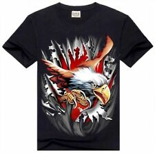 3D Themen Kurzarm Herren-T-Shirts aus Baumwollmischung