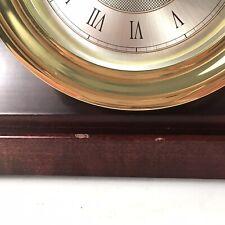 Vintage Anniversary Collection Weems & Plath Ship's Bell Brass Clock Quartz Base