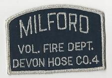 RARE Milford Connecticut Fire Department Patch Company 4 Devon Hose
