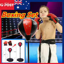 Kids Adjustable Free Standing Punch Gloves  Height Speed Boxing Ball Sport Toys