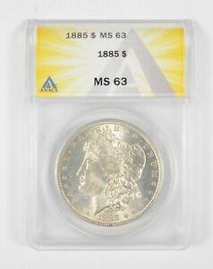 MS63 1885 Morgan Silver Dollar - Graded ANACS *422