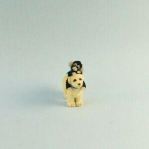 OOAK~Monkey~Puppy Dog~Miniature~Sculpt~Artist Doll~Toy~Dollhouse~Cheryl Brown