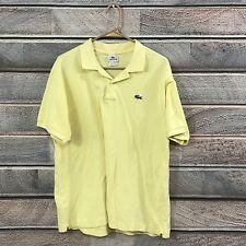LACOSTE 🐊Original POLO Shirt Yellow Mens 6 M Medium Designed In France 🇫🇷