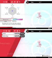 Pokemon Sword Shield / Poke Ball Plus Mew (Timid) / 6IV Non Shiny Level 1 Ready