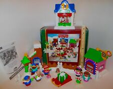 $20 Off ~ COMPLETE~ Fisher Price Little People Christmas On Main Street With Box