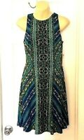 MAGGY LONDON Womens Dress Size 4 Sleeveless Fit and Flare Popover Stretchy New