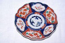 Antique Original Handpainted Imari 21cm Scalloped Plate Meiji