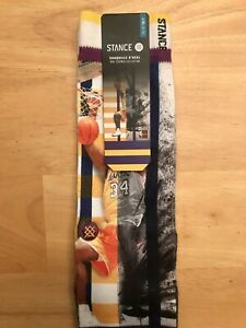 Stance Shaquille O'Neal Los Angeles Lakers NBA Legends Socks Size L/XL (9-13)