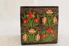 Indian painted wooden decorative box- pretty