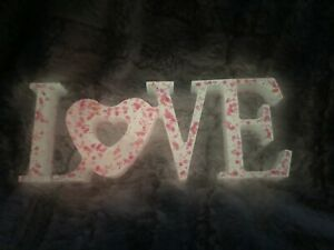 Glow In The Dark Pink Resin LOVE sign