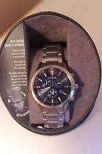 Citizen Men's Titanium Blue Dial Chronographic Eco-Drive Watch AT2340-56L