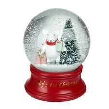 Heaven Sends Baby's First Christmas Snowglobe - Christmas Home Decorations