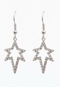 NEXT SILVER TONE SPARKLE STAR EARRINGS  - GIFT