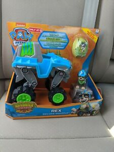 🔥BRAND NEW Paw Patrol DINO RESCUE REX Deluxe Vehicle & Figure & Dino 🔥 In Hand