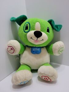 LeapFrog MY PUPPY PAL SCOUT Dog Press PAW TALKING Music Lights Up Learning Plush