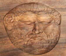 Wall decor hand carving wood plaque Thrace king Teres