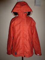 Killtec Boys Girls Youth Kids 3K Neon Orange Zip Coat Windbreaker Jacket sz 16