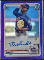 2020 Bowman Chrome TONY DIBRELL Autograph Purple Refractor SP /250 New York Mets