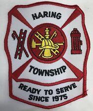 Harding Township Fire Department Michigan Shoulder Patch New Ready Serve 1975 MI
